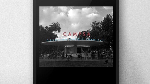 [Poster] Rótulo de la vieja gasolinera de los Jardines de Pereda