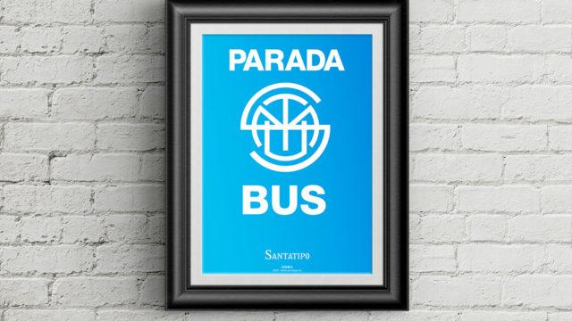 [póster A5] Placa Parada del SMTU