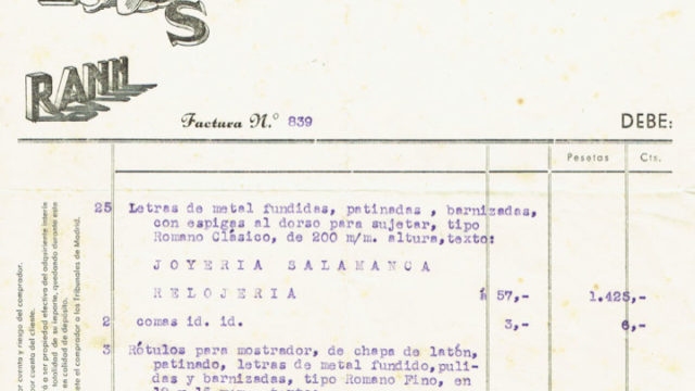 ¿Cuánto costaba hacer un rótulo en los años 40?