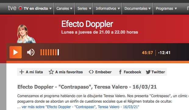 """Entrevista en Radio3 """"Efecto Doppler"""" 16-03-20"""